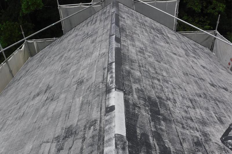 屋根高圧洗浄完了